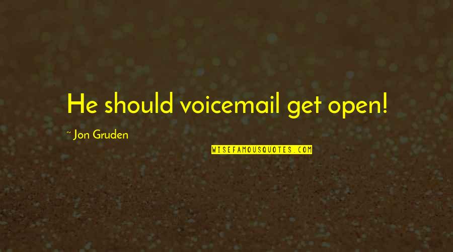Gruden Quotes By Jon Gruden: He should voicemail get open!