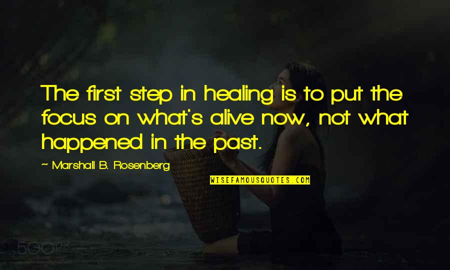Gud Nite Sweet Quotes By Marshall B. Rosenberg: The first step in healing is to put