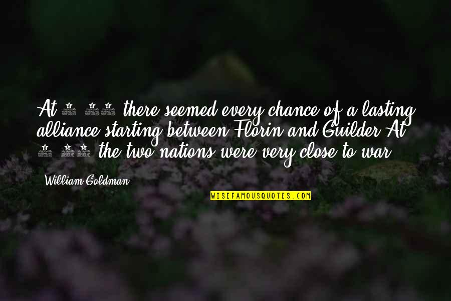Guilder Quotes By William Goldman: At 8:23 there seemed every chance of a