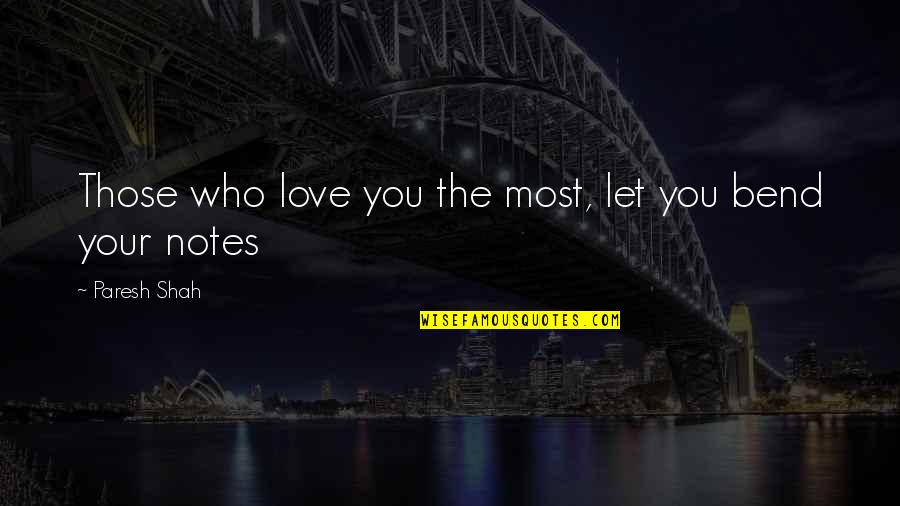 Guitar Quotes And Quotes By Paresh Shah: Those who love you the most, let you