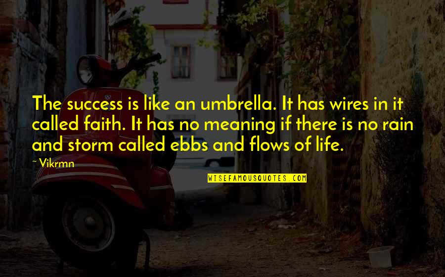 Guitar Quotes And Quotes By Vikrmn: The success is like an umbrella. It has