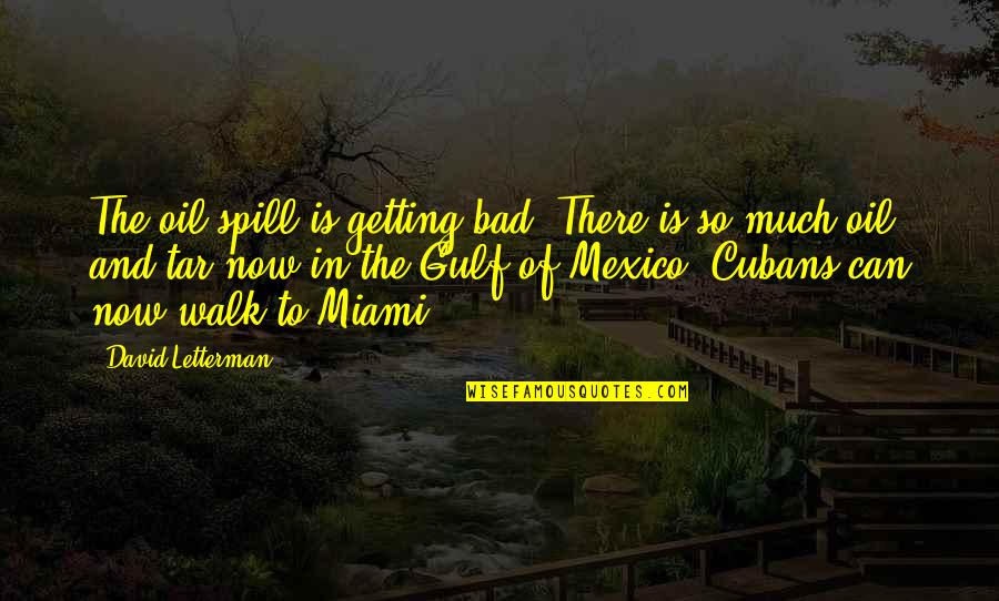 Gulf Of Mexico Oil Spill Quotes By David Letterman: The oil spill is getting bad. There is