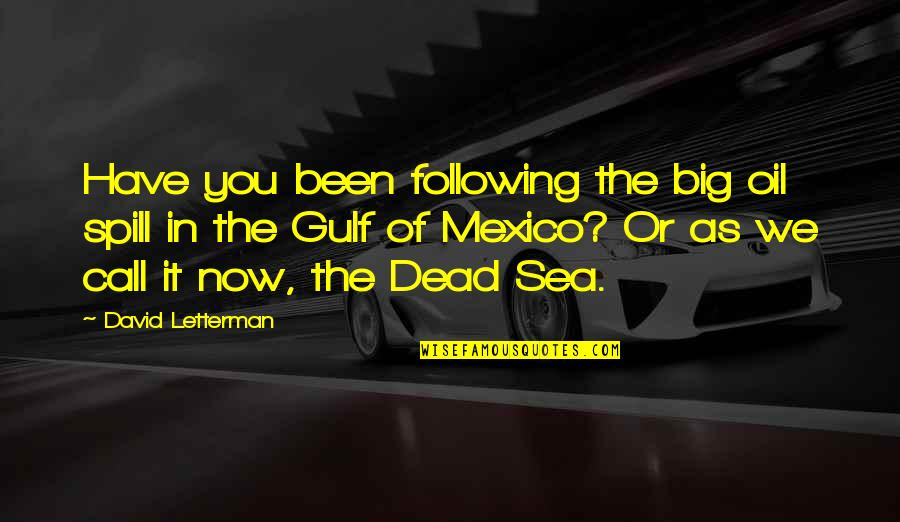 Gulf Of Mexico Oil Spill Quotes By David Letterman: Have you been following the big oil spill