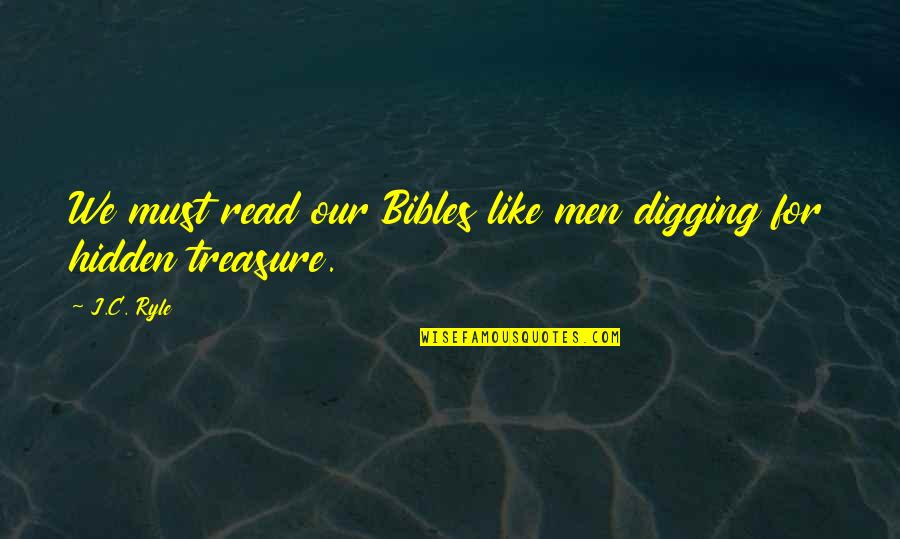 Gully Side Quotes By J.C. Ryle: We must read our Bibles like men digging