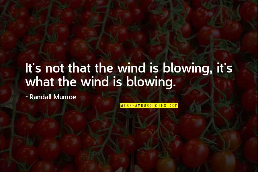 Guns And Government Quotes By Randall Munroe: It's not that the wind is blowing, it's