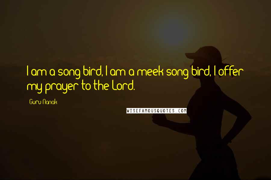 Guru Nanak quotes: I am a song bird, I am a meek song bird, I offer my prayer to the Lord.