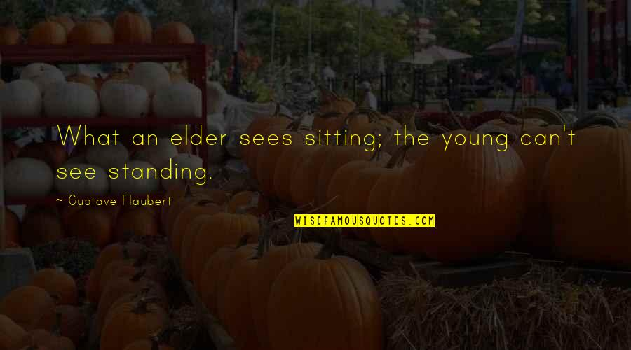 Gustave H Quotes By Gustave Flaubert: What an elder sees sitting; the young can't