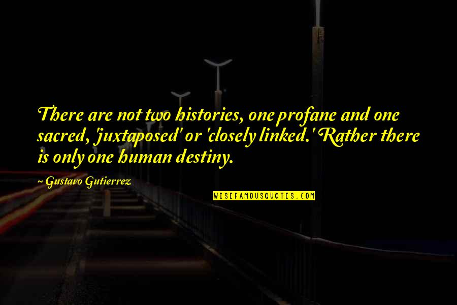 Gustavo Gutierrez Quotes By Gustavo Gutierrez: There are not two histories, one profane and