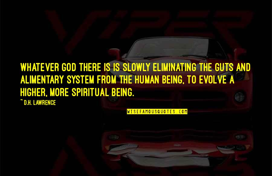Guts Quotes By D.H. Lawrence: Whatever God there is is slowly eliminating the
