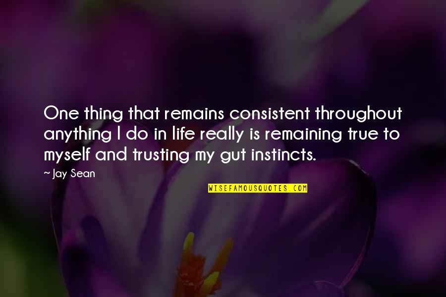 Guts Quotes By Jay Sean: One thing that remains consistent throughout anything I