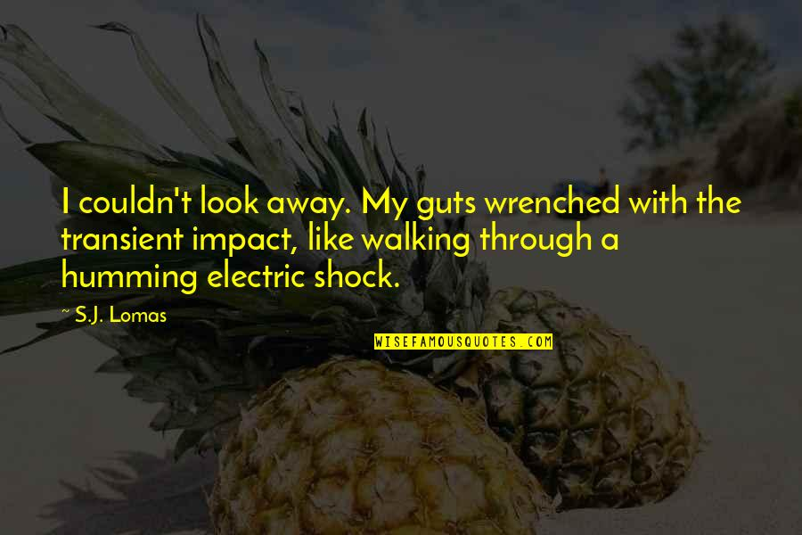 Guts Quotes By S.J. Lomas: I couldn't look away. My guts wrenched with