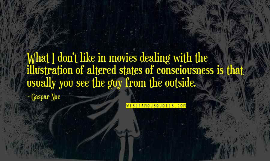 Guy That You Like Quotes By Gaspar Noe: What I don't like in movies dealing with