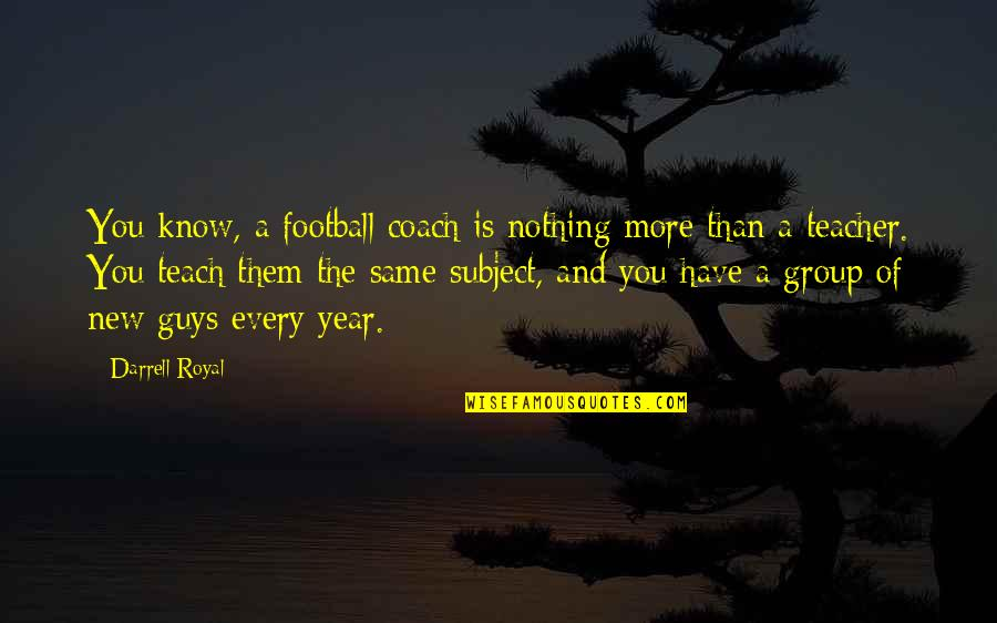 Guys Are All The Same Quotes By Darrell Royal: You know, a football coach is nothing more