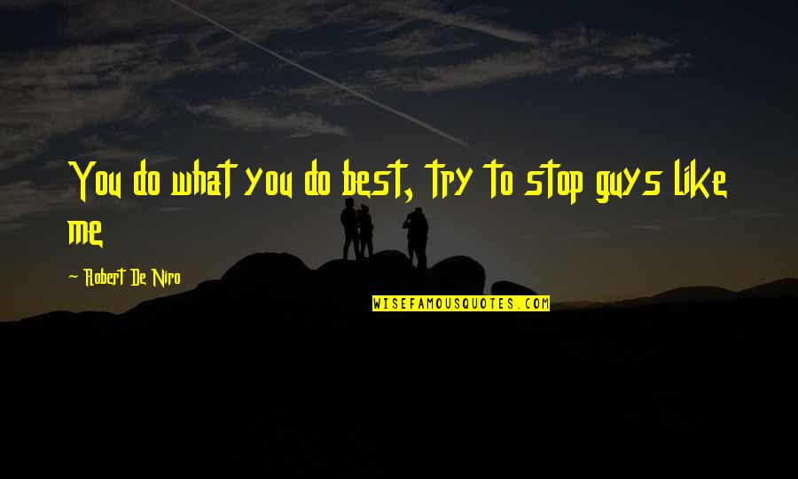 Guys Like You Quotes By Robert De Niro: You do what you do best, try to