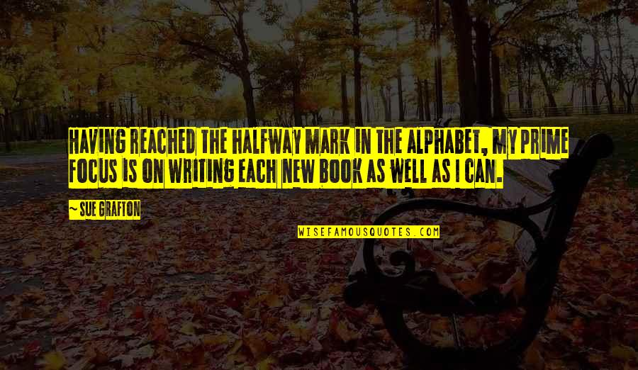 H Alphabet Quotes By Sue Grafton: Having reached the halfway mark in the alphabet,