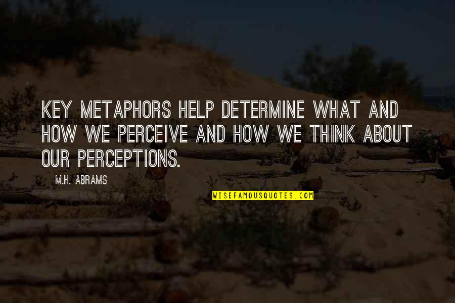 H And M Quotes By M.H. Abrams: Key metaphors help determine what and how we