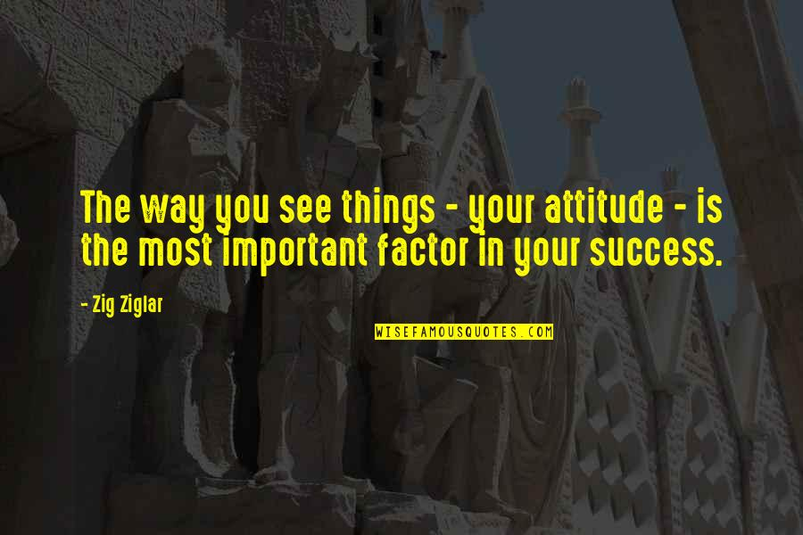 Haaaaate Quotes By Zig Ziglar: The way you see things - your attitude