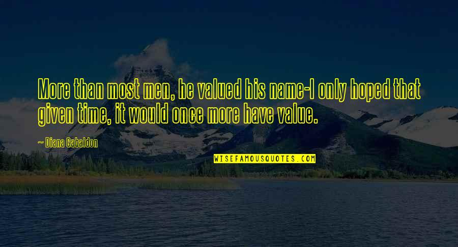 Habanero Pepper Quotes By Diana Gabaldon: More than most men, he valued his name-I