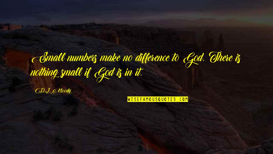 Had Enough Drama Quotes By D.L. Moody: Small numbers make no difference to God. There