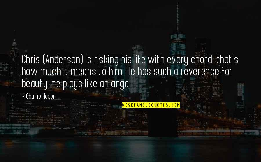 Haden't Quotes By Charlie Haden: Chris (Anderson) is risking his life with every