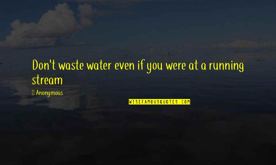 Hadith Quotes By Anonymous: Don't waste water even if you were at