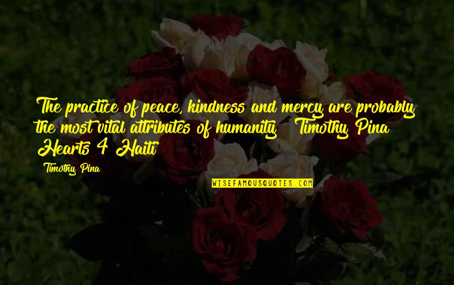 Hafiz E Quran Quotes By Timothy Pina: The practice of peace, kindness and mercy are
