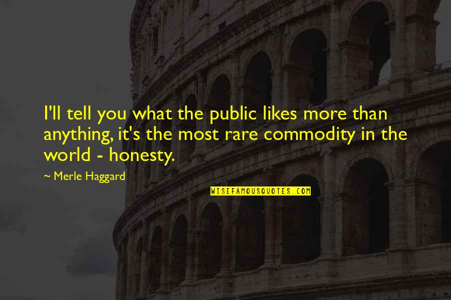 Haggard Quotes By Merle Haggard: I'll tell you what the public likes more