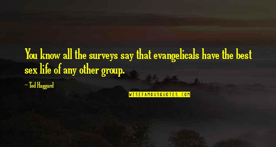 Haggard Quotes By Ted Haggard: You know all the surveys say that evangelicals
