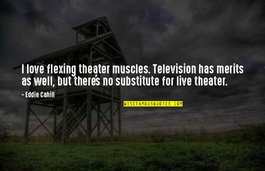 Hahnee Quotes By Eddie Cahill: I love flexing theater muscles. Television has merits