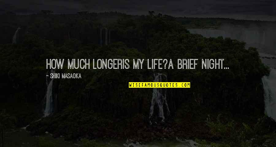 Haiku Quotes By Shiki Masaoka: how much longeris my life?a brief night...