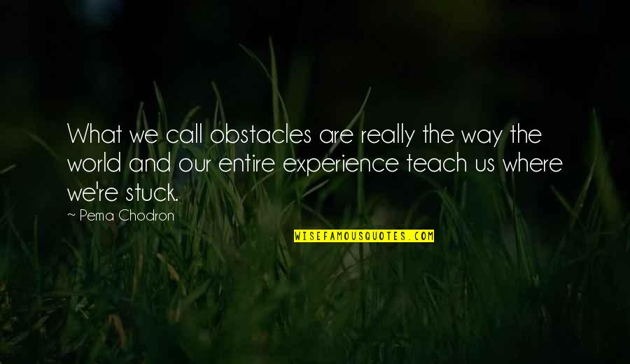 Hakuryuu Ren Quotes By Pema Chodron: What we call obstacles are really the way