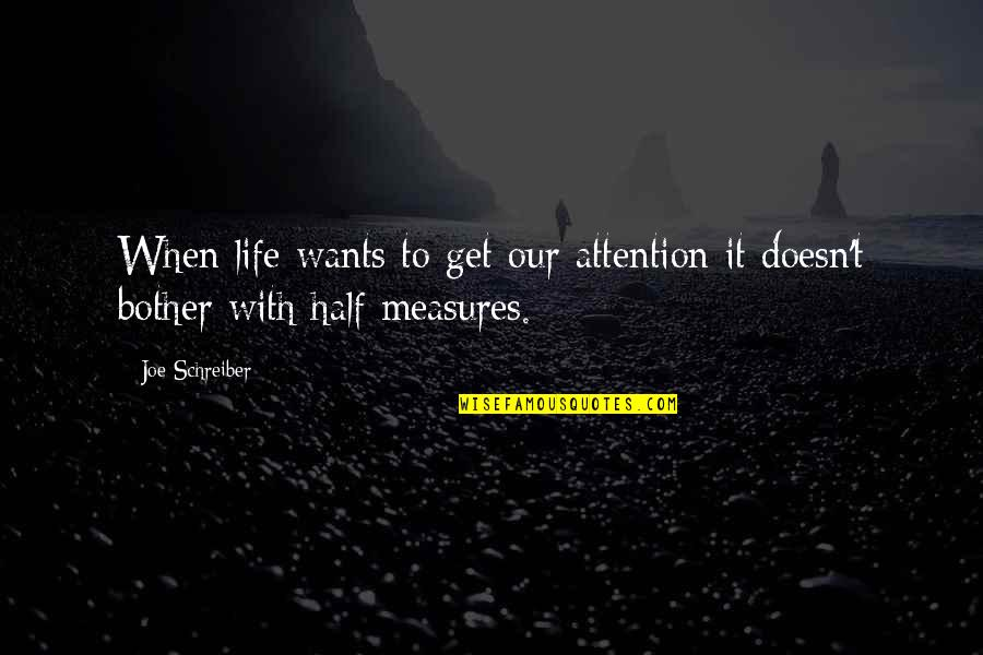Half Life Quotes By Joe Schreiber: When life wants to get our attention it