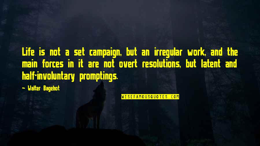 Half Life Quotes By Walter Bagehot: Life is not a set campaign, but an
