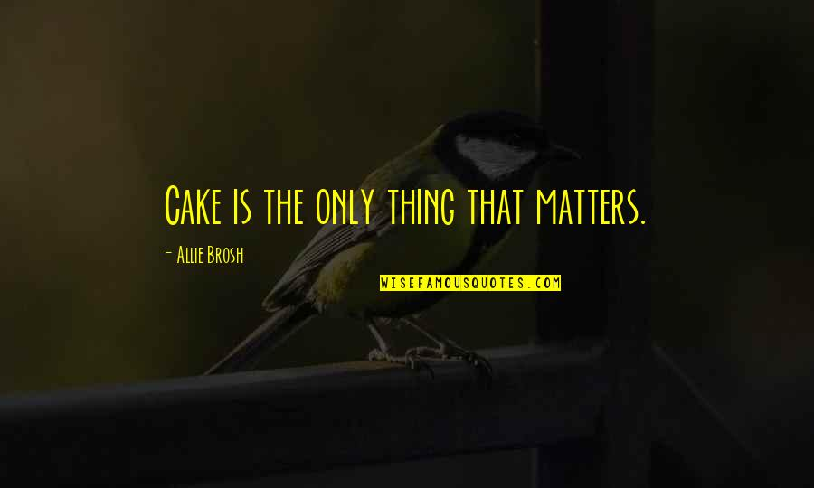 Half Quotes By Allie Brosh: Cake is the only thing that matters.
