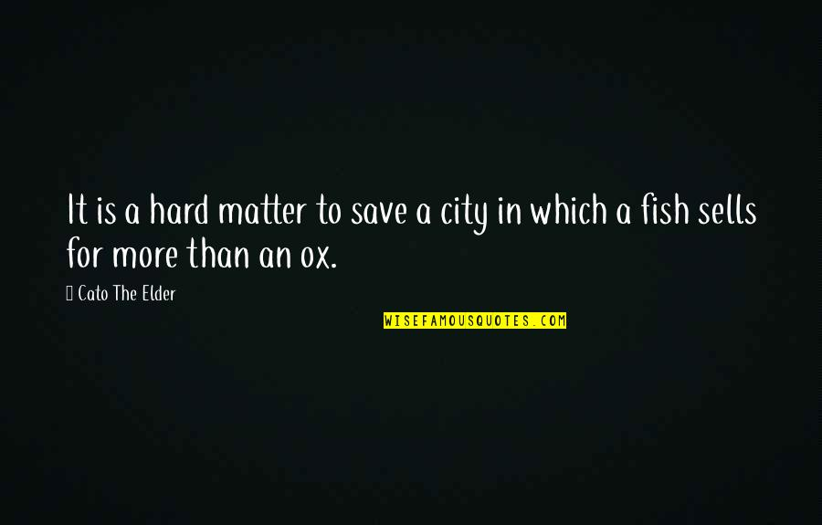 Halfman Quotes By Cato The Elder: It is a hard matter to save a