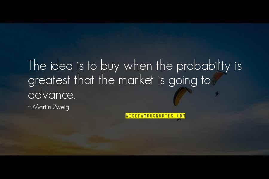 Hamlet Act 4 Scene 7 Important Quotes By Martin Zweig: The idea is to buy when the probability