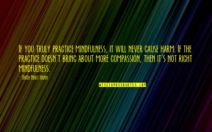 Hanh's Quotes By Thich Nhat Hanh: If you truly practice mindfulness, it will never