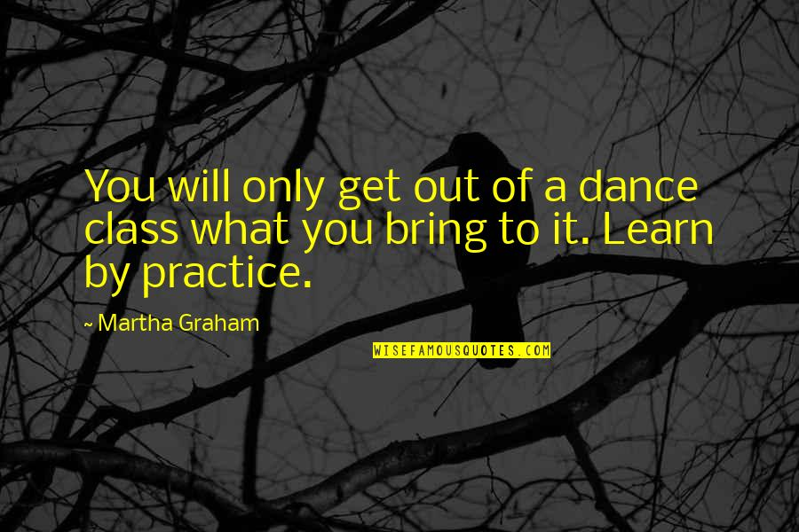 Happiness And Love Bible Quotes By Martha Graham: You will only get out of a dance