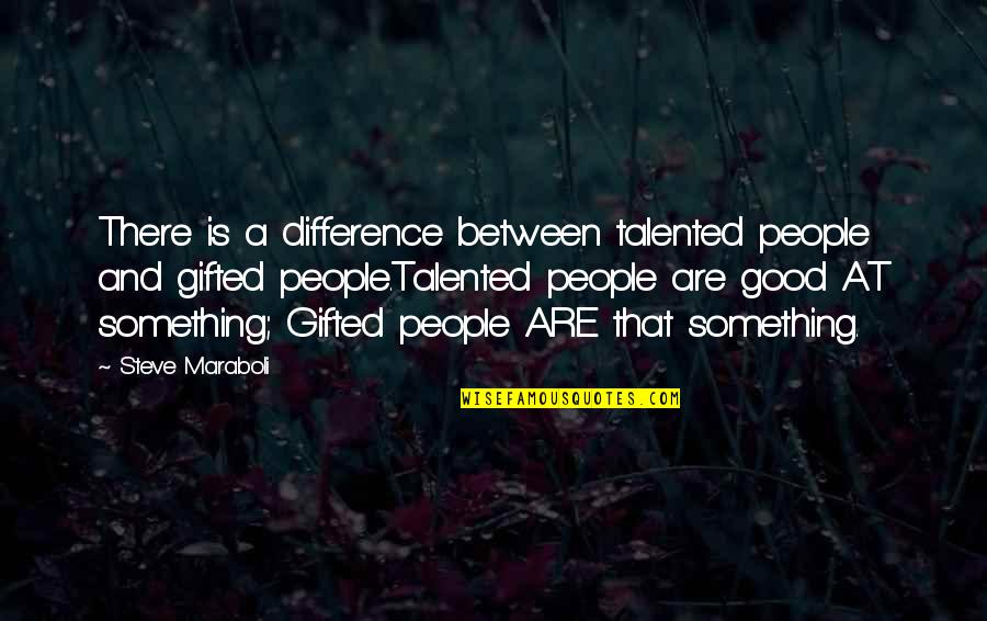 Happiness Is Success Quotes By Steve Maraboli: There is a difference between talented people and