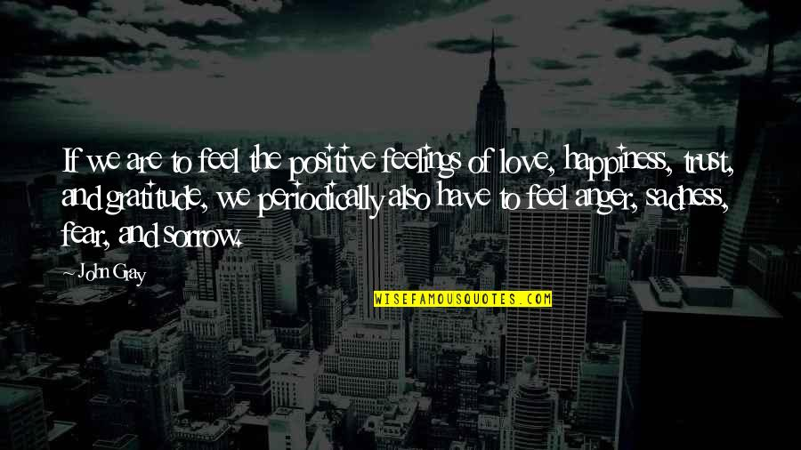 Happiness To Sadness Quotes By John Gray: If we are to feel the positive feelings