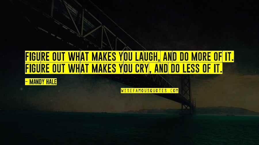 Happiness To Sadness Quotes By Mandy Hale: Figure out what makes you laugh, and do