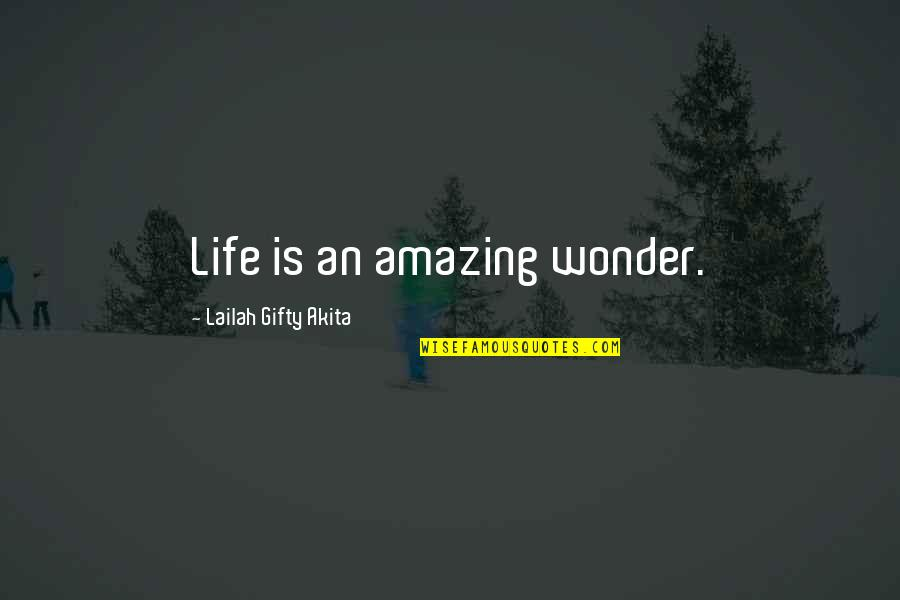 Happy And Positive Thoughts Quotes By Lailah Gifty Akita: Life is an amazing wonder.