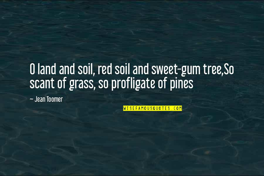 Happy Birthday Melissa Quotes By Jean Toomer: O land and soil, red soil and sweet-gum