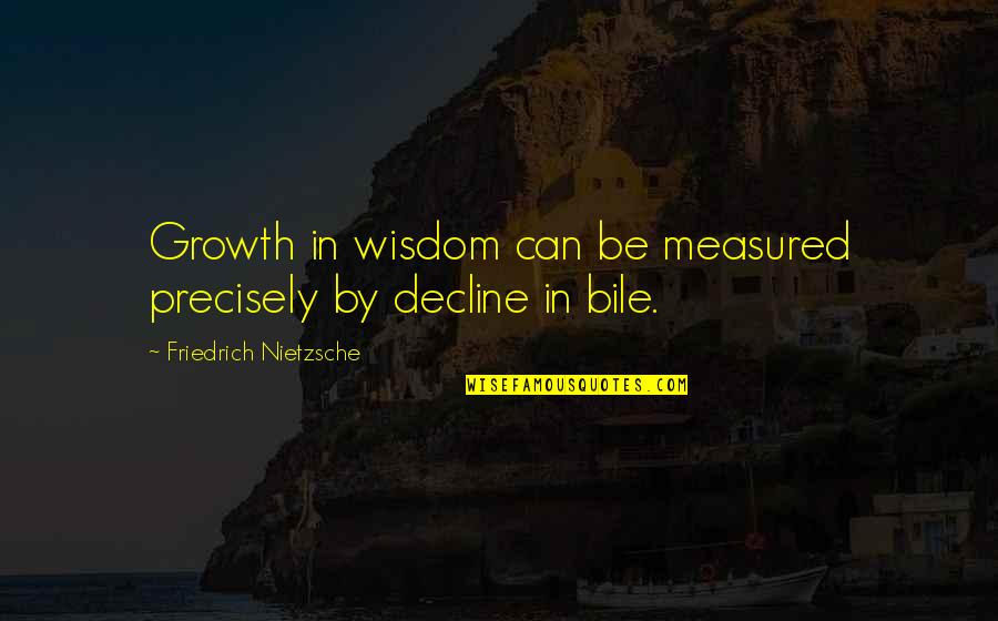 Happy Client Quotes By Friedrich Nietzsche: Growth in wisdom can be measured precisely by