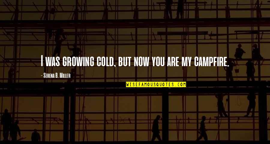 Happy Hump Day Funny Quotes By Serena B. Miller: I was growing cold, but now you are