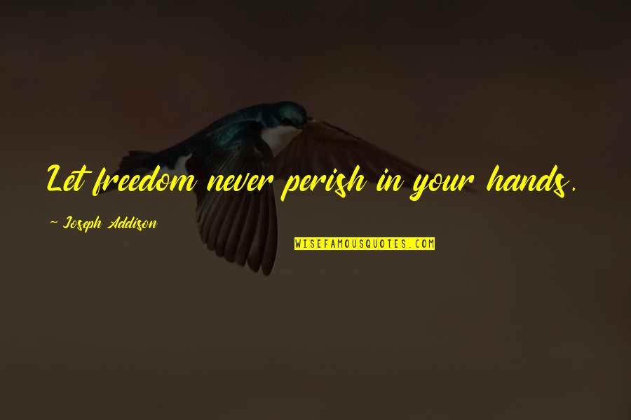 Happy Independence Day 4th July Quotes By Joseph Addison: Let freedom never perish in your hands.