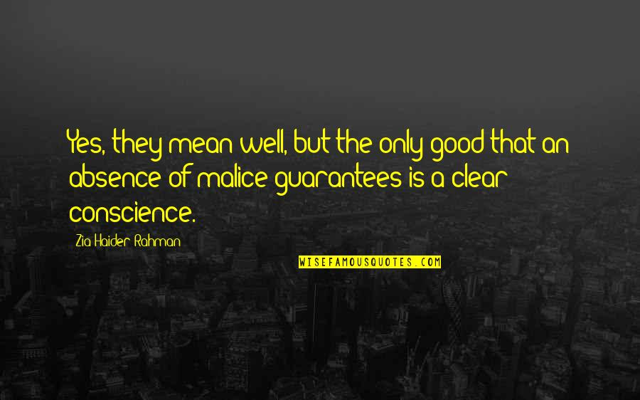 Happy Life Images And Quotes By Zia Haider Rahman: Yes, they mean well, but the only good