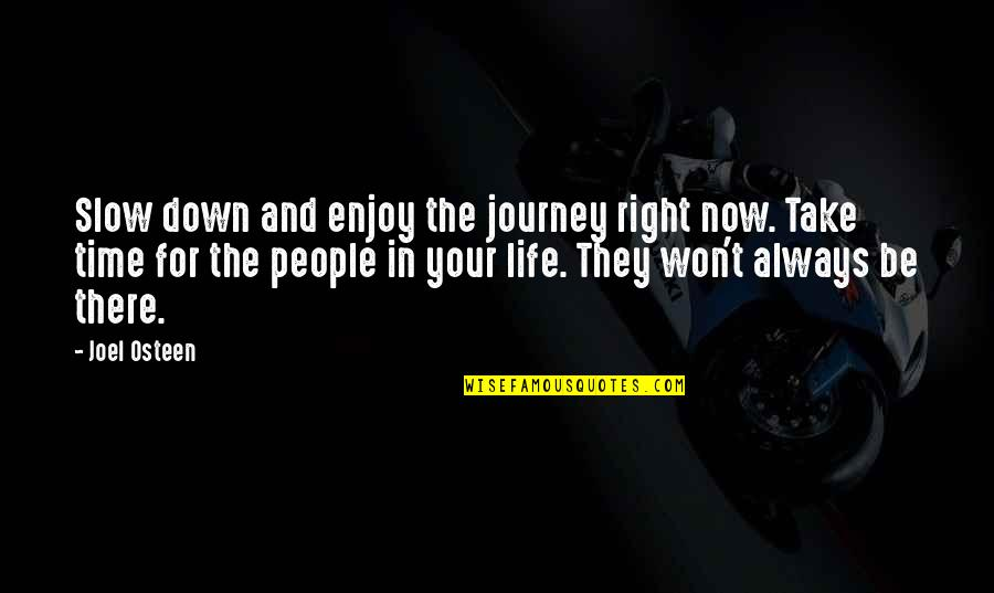 Happy Life Time Quotes By Joel Osteen: Slow down and enjoy the journey right now.