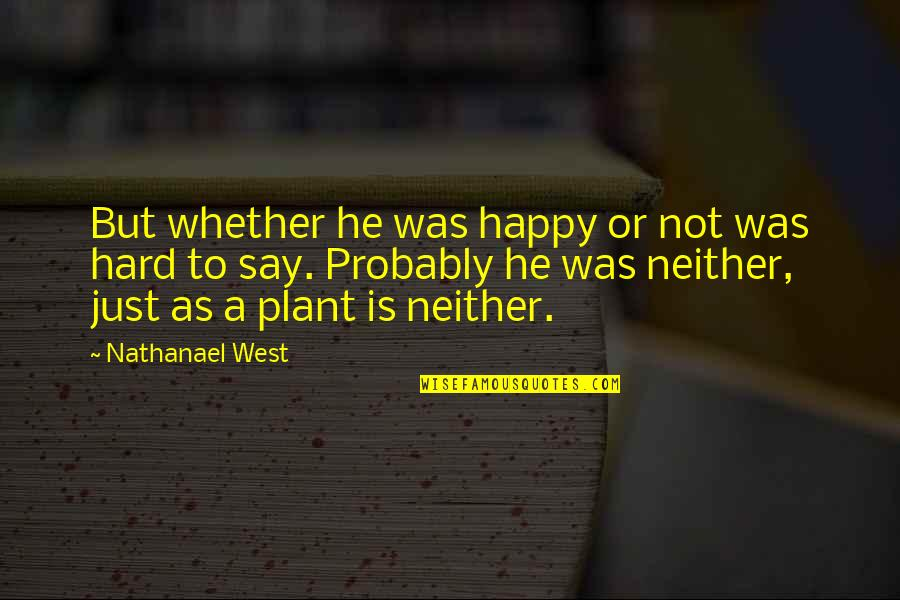 Happy Or Not Quotes By Nathanael West: But whether he was happy or not was