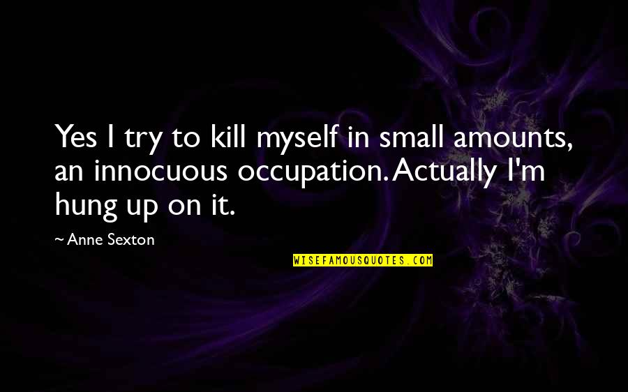 Happy To See You Today Quotes By Anne Sexton: Yes I try to kill myself in small
